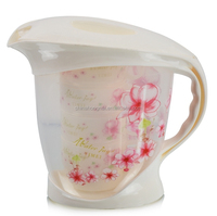 2015 color printing BPA free plastic food safe pitcher with cup