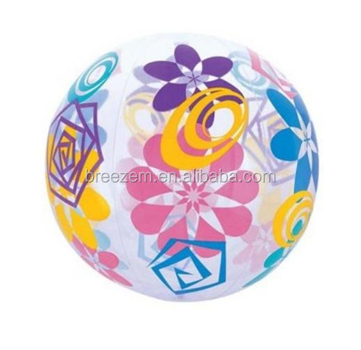 custom printing Inflated beach ball ,PVC Transparent Beach Ball Toys for Hot Sale