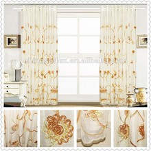 Home Textile High Quality Poly Voile Embroidery (EMB) Living Room Fabric Curtains