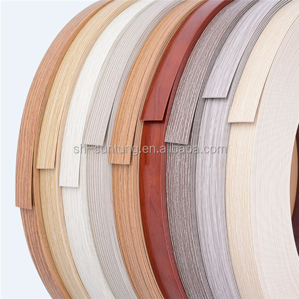 wood color flexible rubber countertop edging strip for furniture