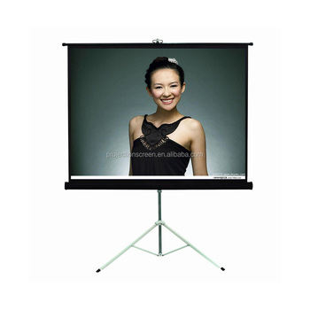 2015 hot sale tripod projection screen/tripod stand screen