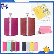 Magnetic Leather Flip Cover For Samsung Galaxy S4 I9500 Wallet Case With 3 Card Slots