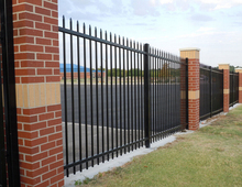Direct factory Galvanized iron fence philippines Steel tube fence
