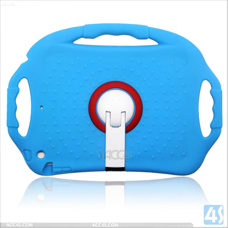 For iPad air Soft Silicone Stand Case for kids P-IPD5SO002