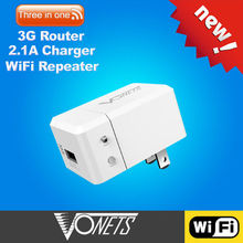 VONETS Professional wifi repeater&3G router&2.1A charger VRP150 for tablet computer