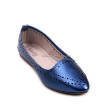 Spring Autumn Suede Leather ladies ballerina shoes Metal Toe Fashion Causal Flats Dolly Shoes For lady