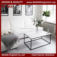 MA-R14-MT White Marble Table Modern Living Room Marble Top Coffee Table Center Table