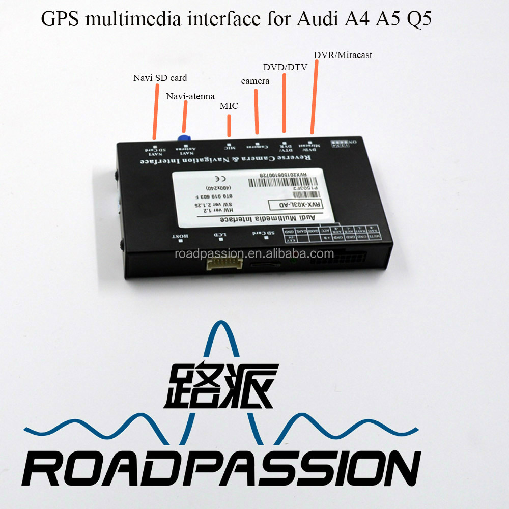Touch screen control multimedia interface GPS system for Audi A4 navigation