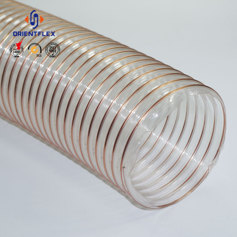 Wire insulation copper plated steel wire transparent wall air PU duct hose