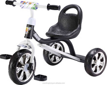 2015 new simple children tricycle with big seat abd siliver wheels