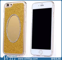 "Luxury Diamond Mirror Case for iPhone 6 Plus 5.5"", Bling Bling Protective Back Cover for iPhone 6 Plus"