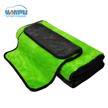 different colors for two sides Ultra-Soft super absorbent coral velvet towel cleaning microfiber cloth
