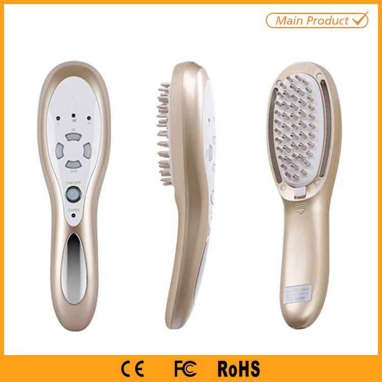 Hair Loss Treatment Hair Growth Scalp Stimulator Vibrating Massage Hair Brush