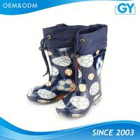 Factory competitive price boys and girls plastic rain boots