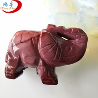 Mixed gemstone elephant crystal beads hand carved natural pendants animal jewelry