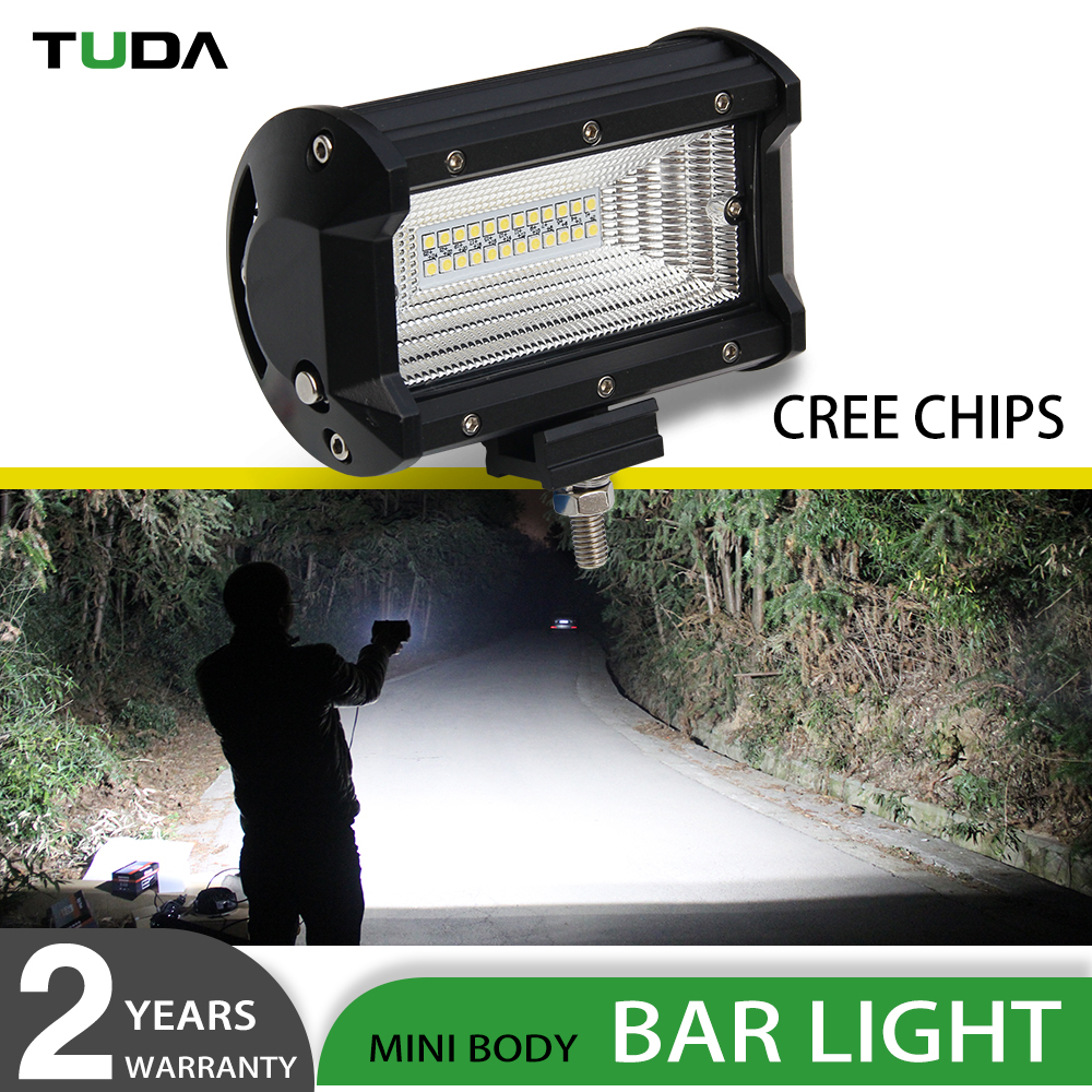 Wholesale Factory Direct Selling Jeep Truck Tractor 12V 24V New Auto 72W Led Work Light Bar Offroad