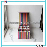 Striae paper drawer storage & rainbow orgnizer box (made in China)