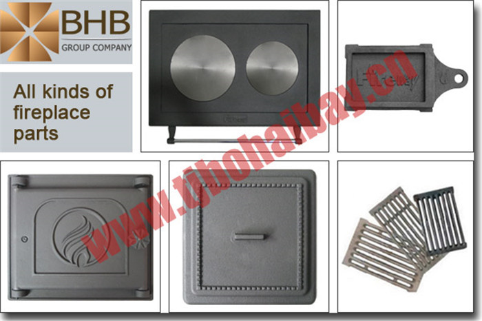 Best european style popular cast iron wood stove door