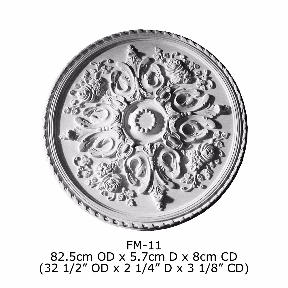 Polyurethane High Quality beautiful PU decorative High Quality Good price beautiful PU decorative Flower Roses ceiling medallion