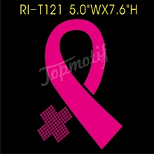 Bling - Iron-On Pink Ribbon Breast Cancer Awareness Vinly Decal Transfer