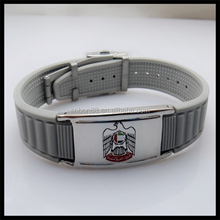 silicone healthy bracelet with UAE falcon logo