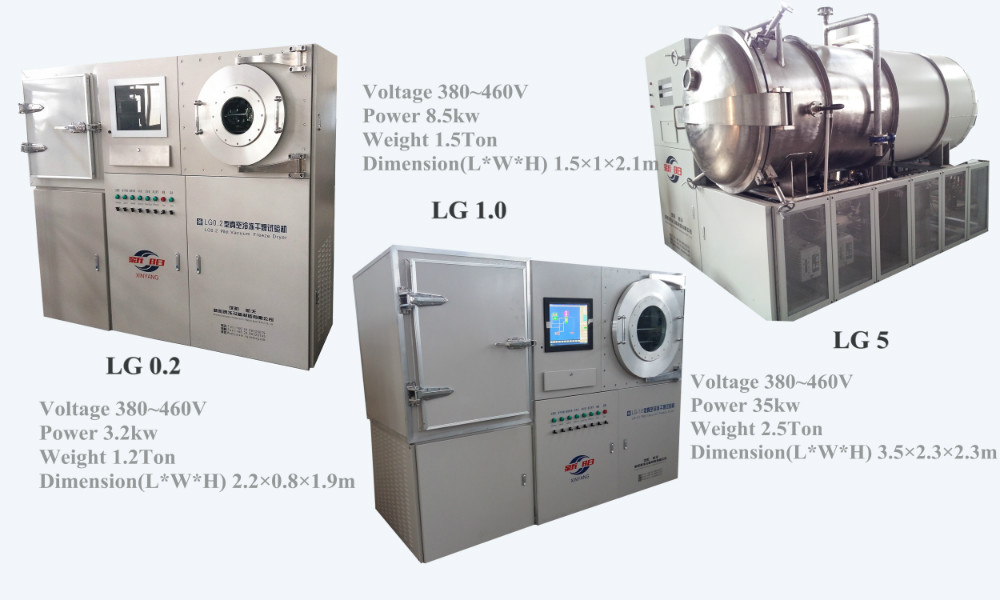 High quality and capacity meat vacuum freeze dryer