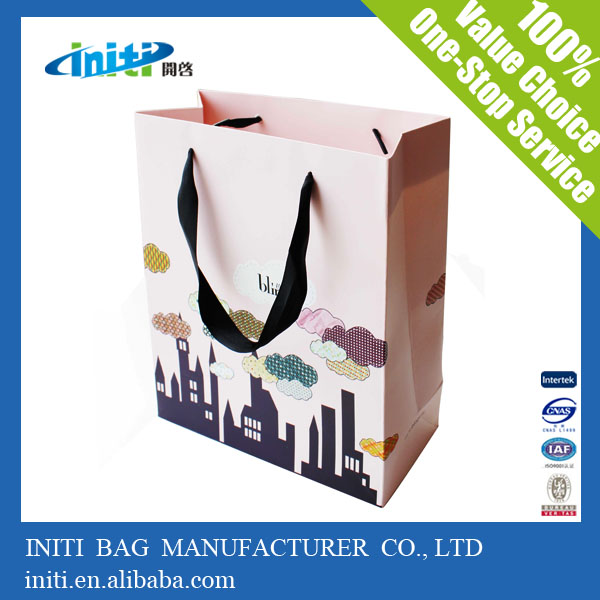 Customized Logo Top Sale Handled Style Paper Bag Specification