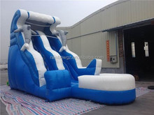 commercial cheap giant inflatable dolphin water slide for kids and adults