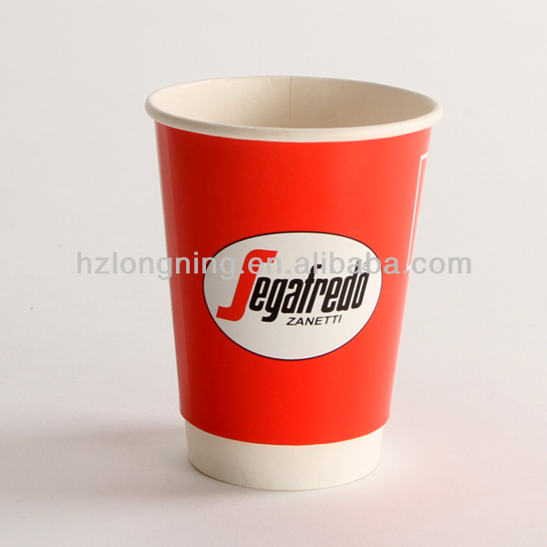 Customizd Logo 12oz Double Wall Disposable Paper Cup Company