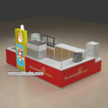 luxurious mall food Churros display kiosk & fresh juice bar kiosk design for sale