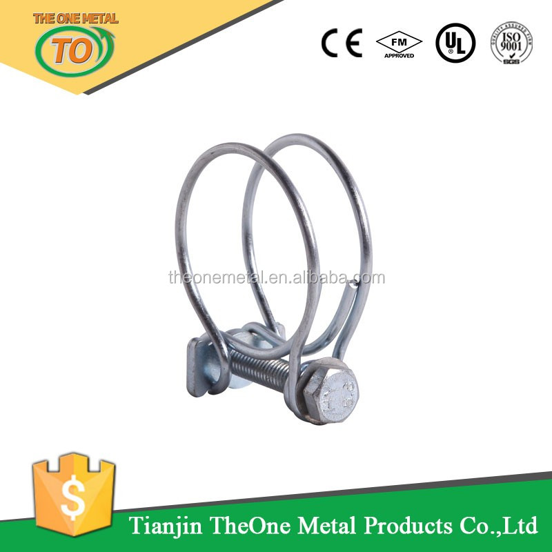 different sizes double wires hose clamp made in china