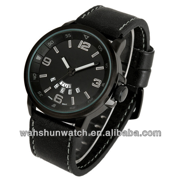 Top quality swiss movement military black watches man fashion 2014