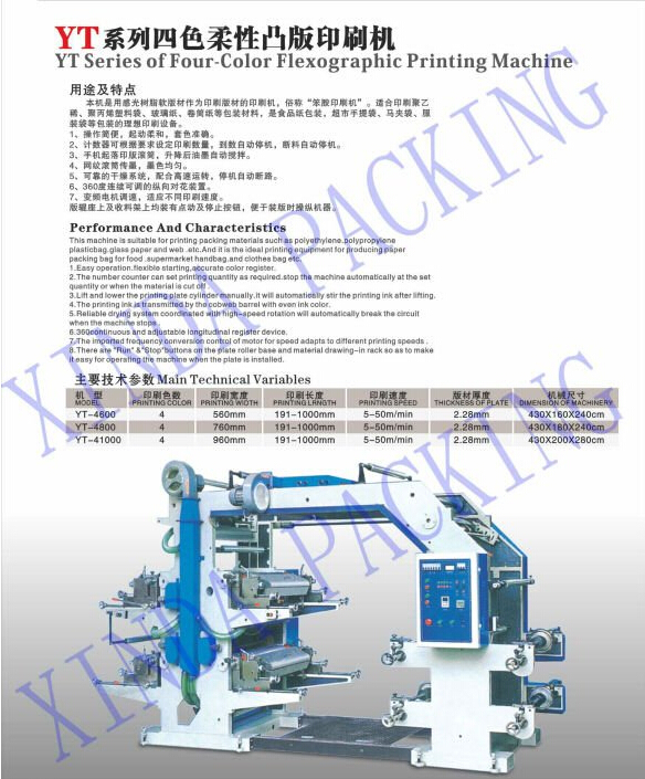 flexographic four color digital fabric security printing machine
