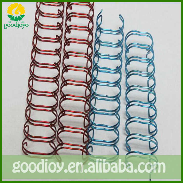 Metal &plastic double loop wire for paper binding