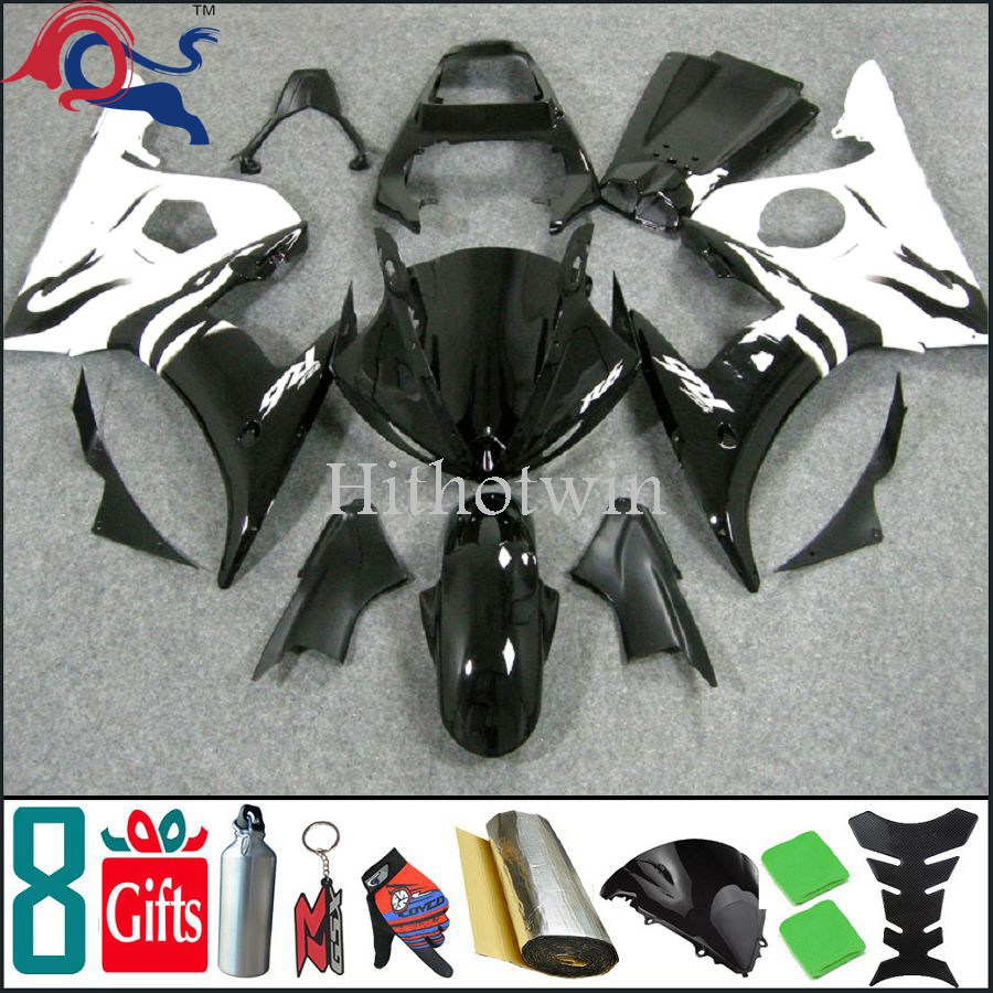 For yamaha R6S 2006 2007 2008 2009 white black Fairing Plastic Motorcycle Body Kit YZF R6S 2006 2009