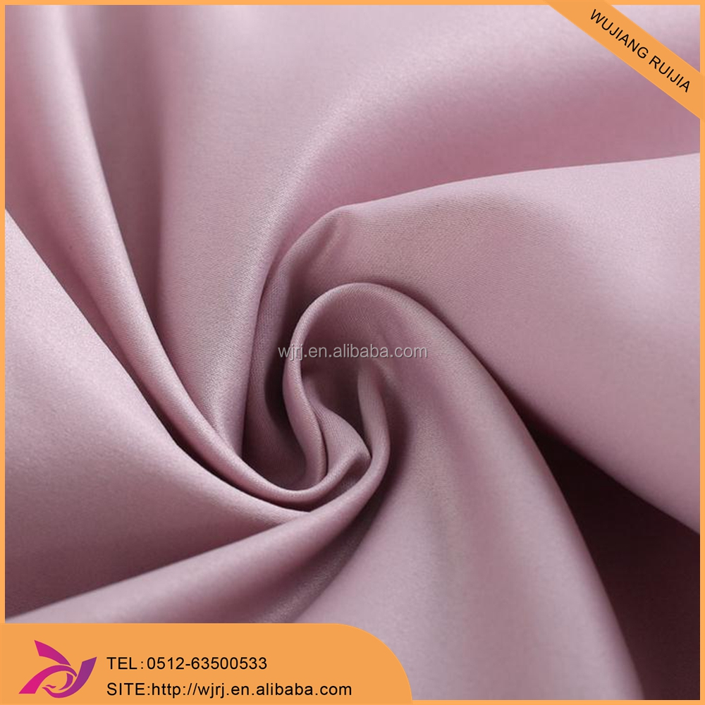 polyester high-quality smooth hand feeling dull stretch satin fabric