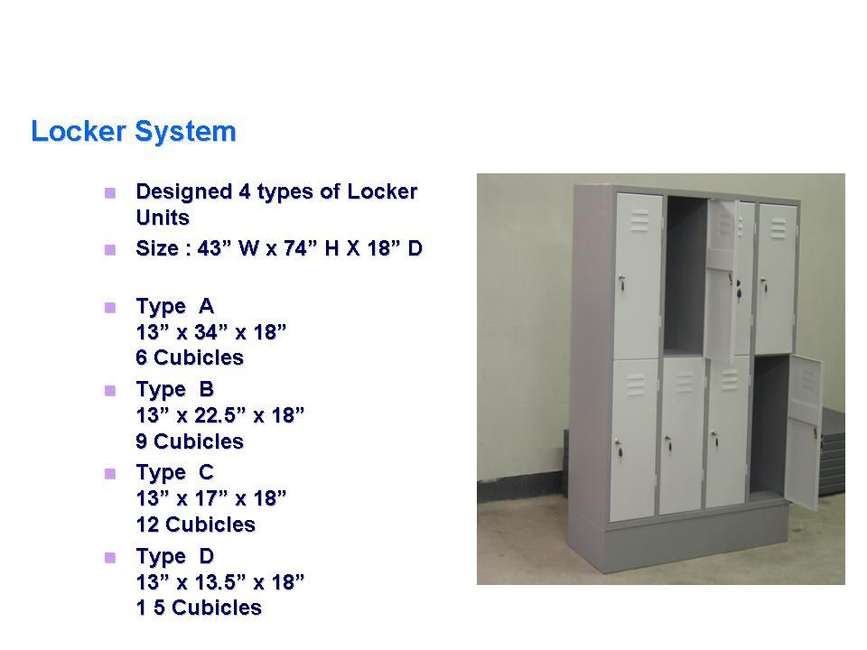 Steel Locker System