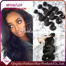 7A free tangle body wave 100% peruvian virgin hair, Wholesale Natural Colour 100% Unprocessed Virgin Peruvian Hair