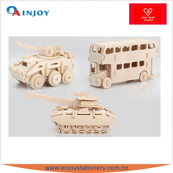 3D DIY TOY Wood Puzzle,Car and helicopter