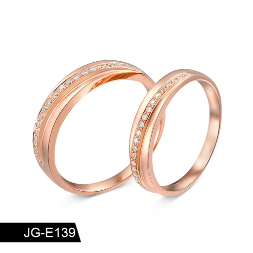 18K Solid Gold Jewelry Rings Wholesale Price For Couple