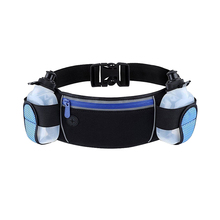 Factory Supply Waterproof Running Waist Bag Sport Running Belt Hydration Belt with 2 BPA-Free Water Bottles
