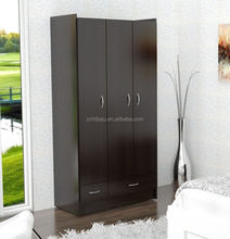 Three Doors Wardrobe Closet/ Cheap Bedroom Wardrobe Designs