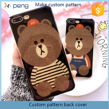 2017 long life Painting pattern Bear Elastic back cover skin protective mobile phone case for asus zenpad 8.0