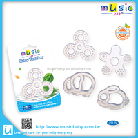 Silicone baby Teether ring animal shaped elephant, rabbit,flower