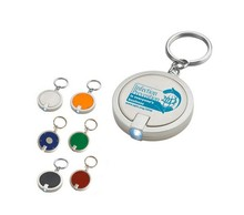 MCH105 LED keychains, reflective ABS keychain with light, promotion plastic key ring