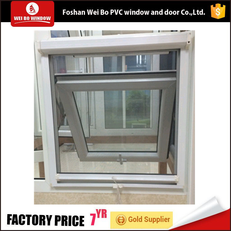 2017 Plastic cheap house pvc awning windows for sale