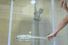 10mm high strength and security tempered glass shower wall panels