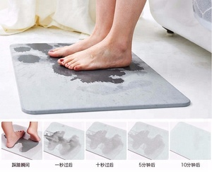 Dry quickly diatomaceous earth bath mat diatomite floor absorbent foot