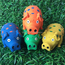 9-Inch Latex Polka Dot Globlet Pig Dog Toy, Assorted Colors