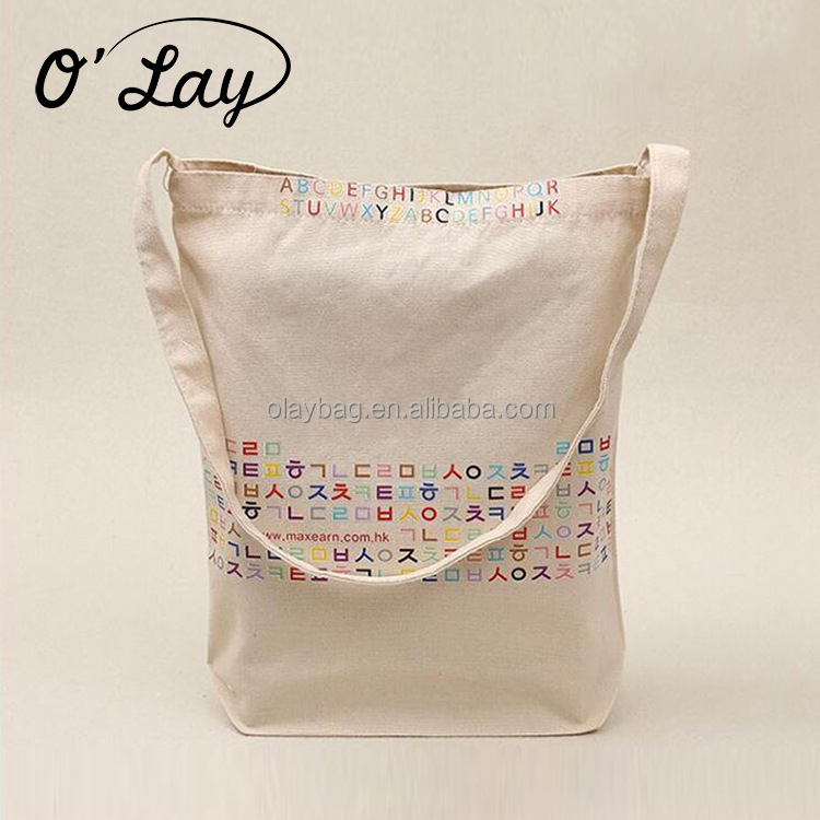 20 Oz Colorful Canvas Heavy Advertising Cotton Fabric Foldable Cloth Tote Bag
